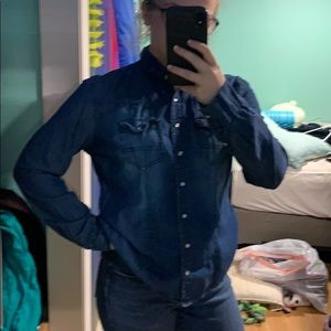 Denim button up for those farmer vibes